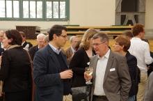 Empfang in der Peter-Behrens-Halle, Antonio Becchi und Andreas Kahlow | Foto Bernhard Heres