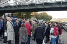 """Exkursionsziel Elbebrücke Blasewitz-Loschwitz, """"Blaues Wunder"""" (Foto: F. Voormann)"""