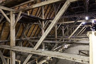 Spätgotisches Dachwerk der Pfarrkirche St. Nikolaus in Hall (Foto: S. Hoyer)