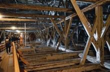 Spätgotisches Dachwerk der Pfarrkirche Maria Himmelfahrt in Schwaz (Foto: D. Häßler)