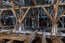 Spätgotisches Dachwerk der Pfarrkirche Maria Himmelfahrt in Schwaz (Foto: S. Hoyer)
